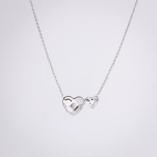 Ogrlica Twin Heart w Crystals from Swarovski
