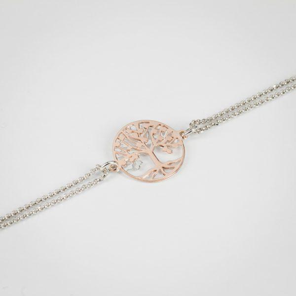 Narukvica Tree of Life Rose Gold&Silver