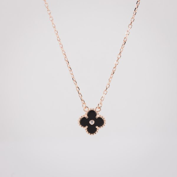 Ogrlica Most Wanted Black&Rose Gold w Solitaire