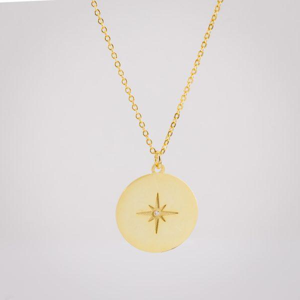 Ogrlica North Star Gold