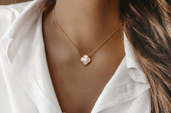 Ogrlica Most Wanted White & Rose Gold w Stones