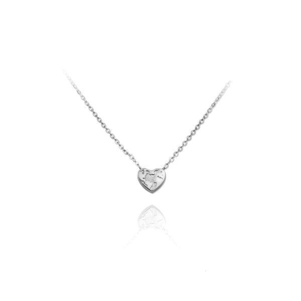 Ogrlica Tiny Globetrotter's Heart Silver